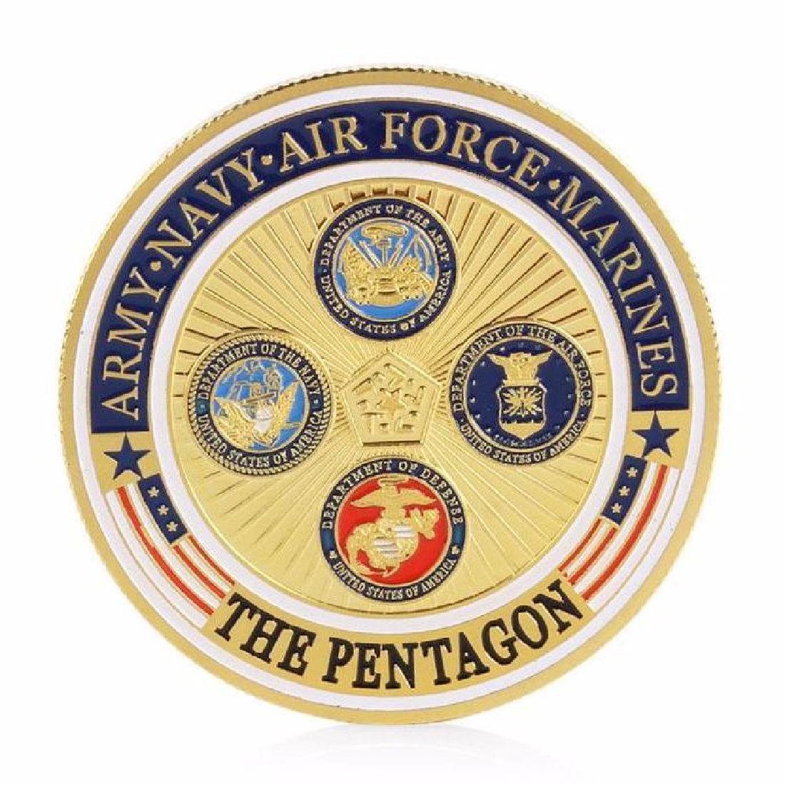 The Pentagon Military Gold Clad Challenge Coin