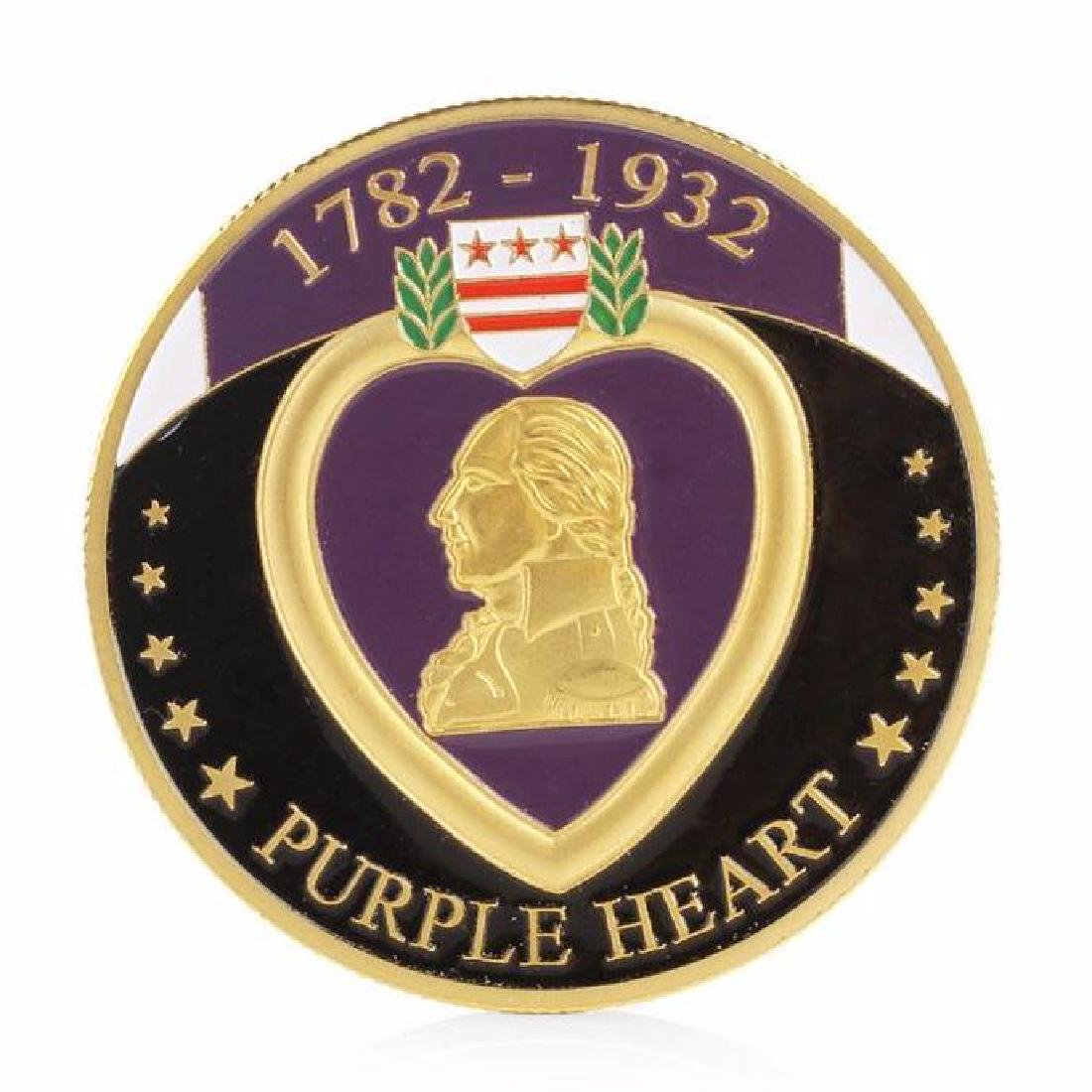 1782-1932 Purple Heart Military Challenge Coin