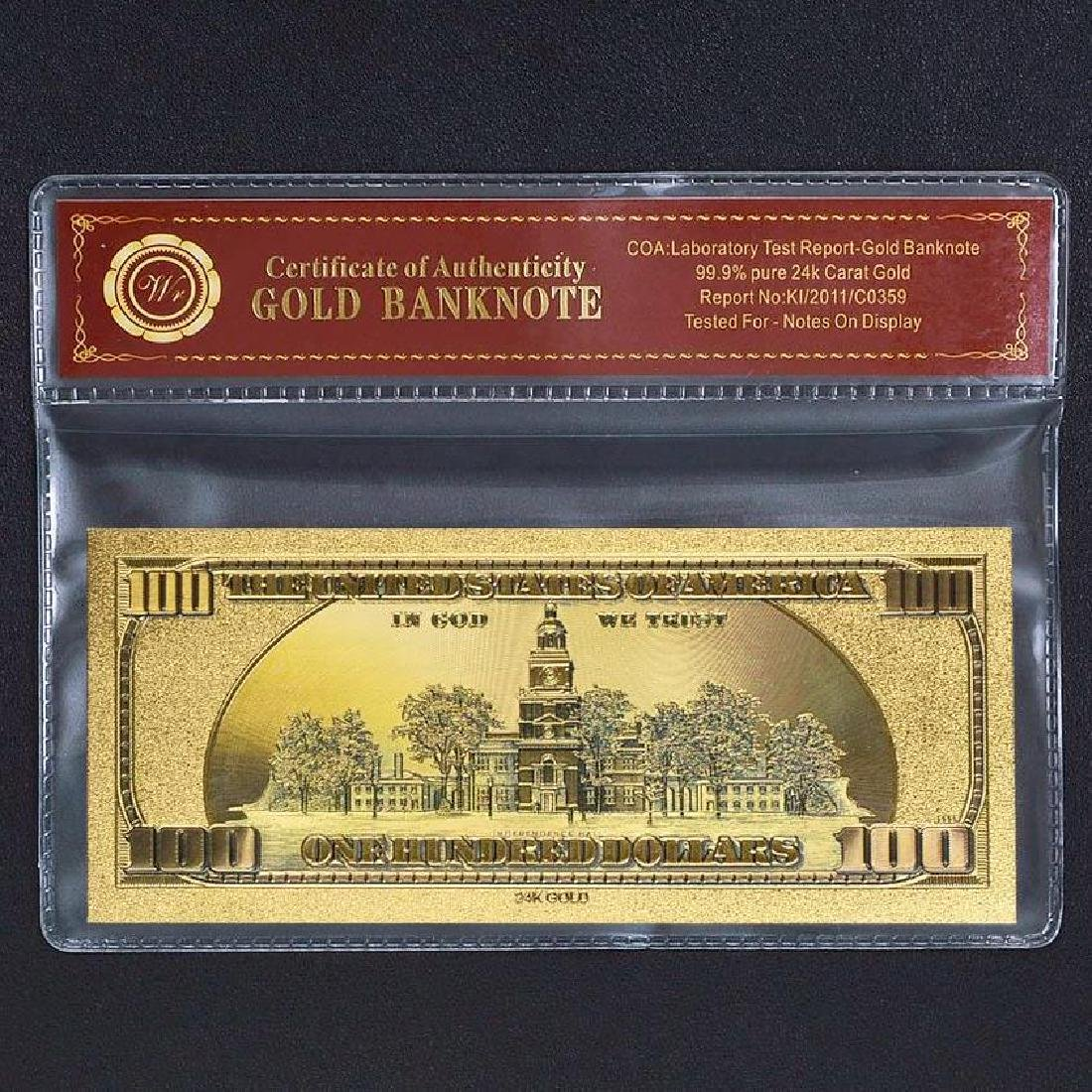 Donald Trump $100 Colored 24K Gold Clad Banknote - 2