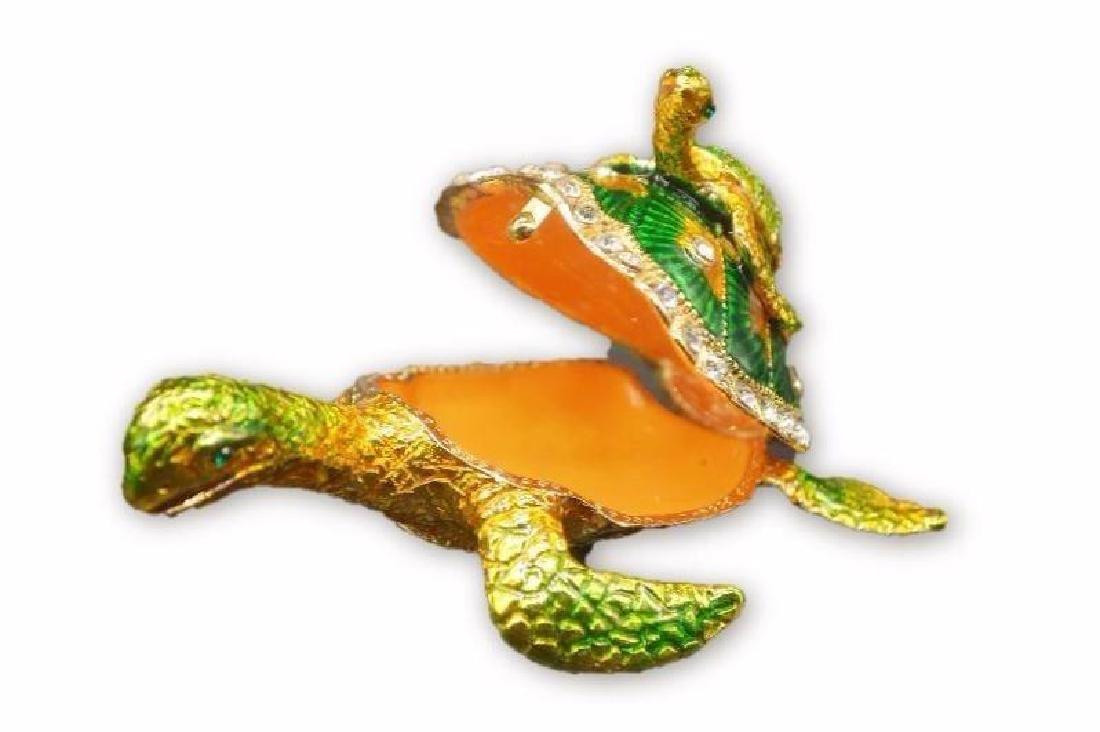 Colored Gold Clad Tortoise w/ Rhinestones - 3
