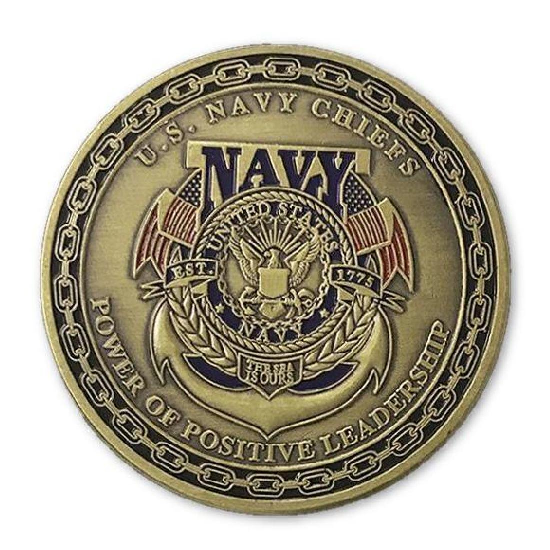USA Navy Gold Clad Military Challenge Coin