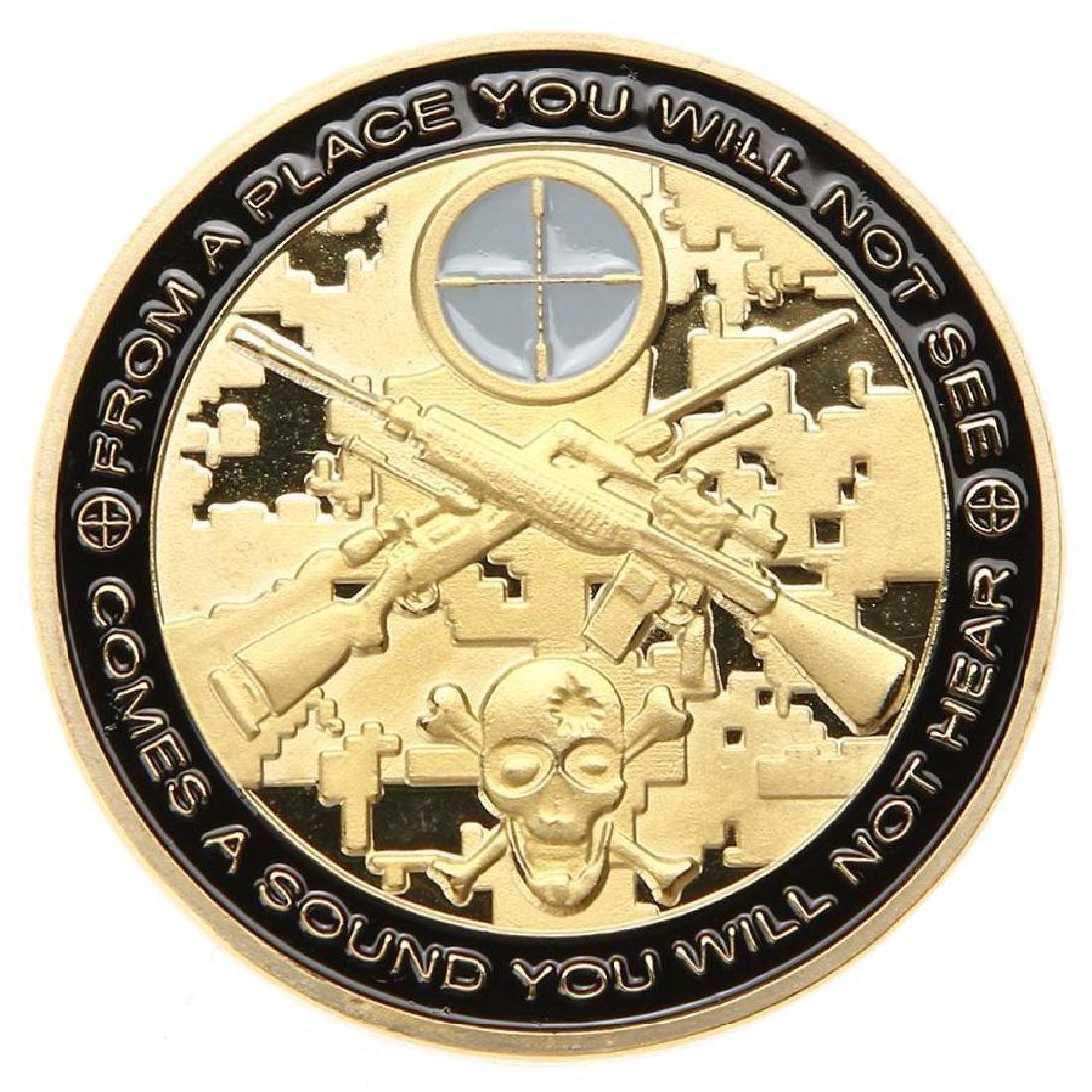 War Sniper Military Challenge Coin