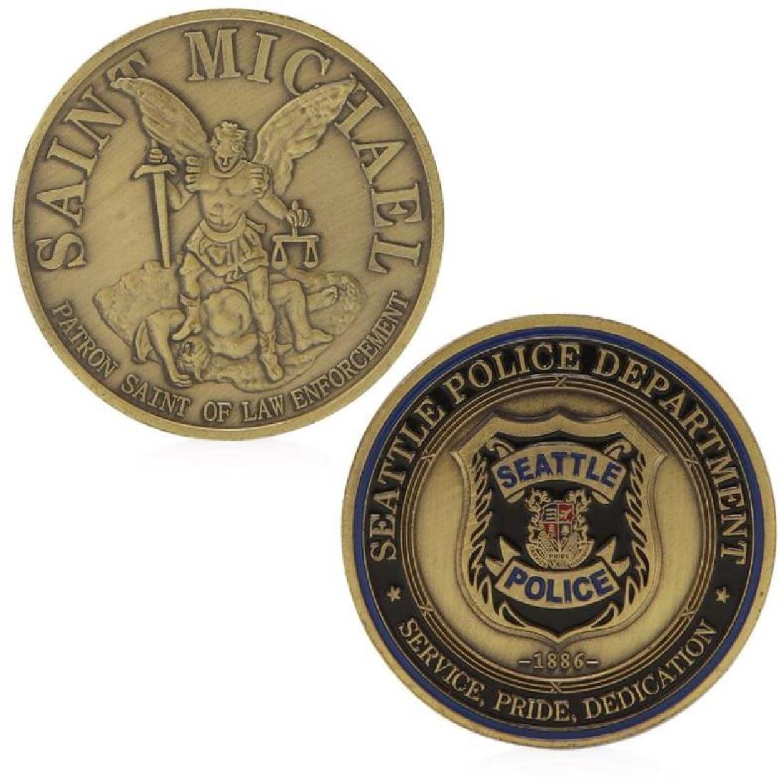 1886 Seattle Police Colored Challenge Coin