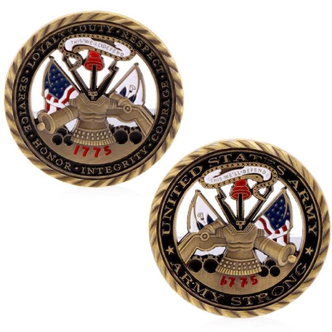 1775 USA Army Values Challenge Coin