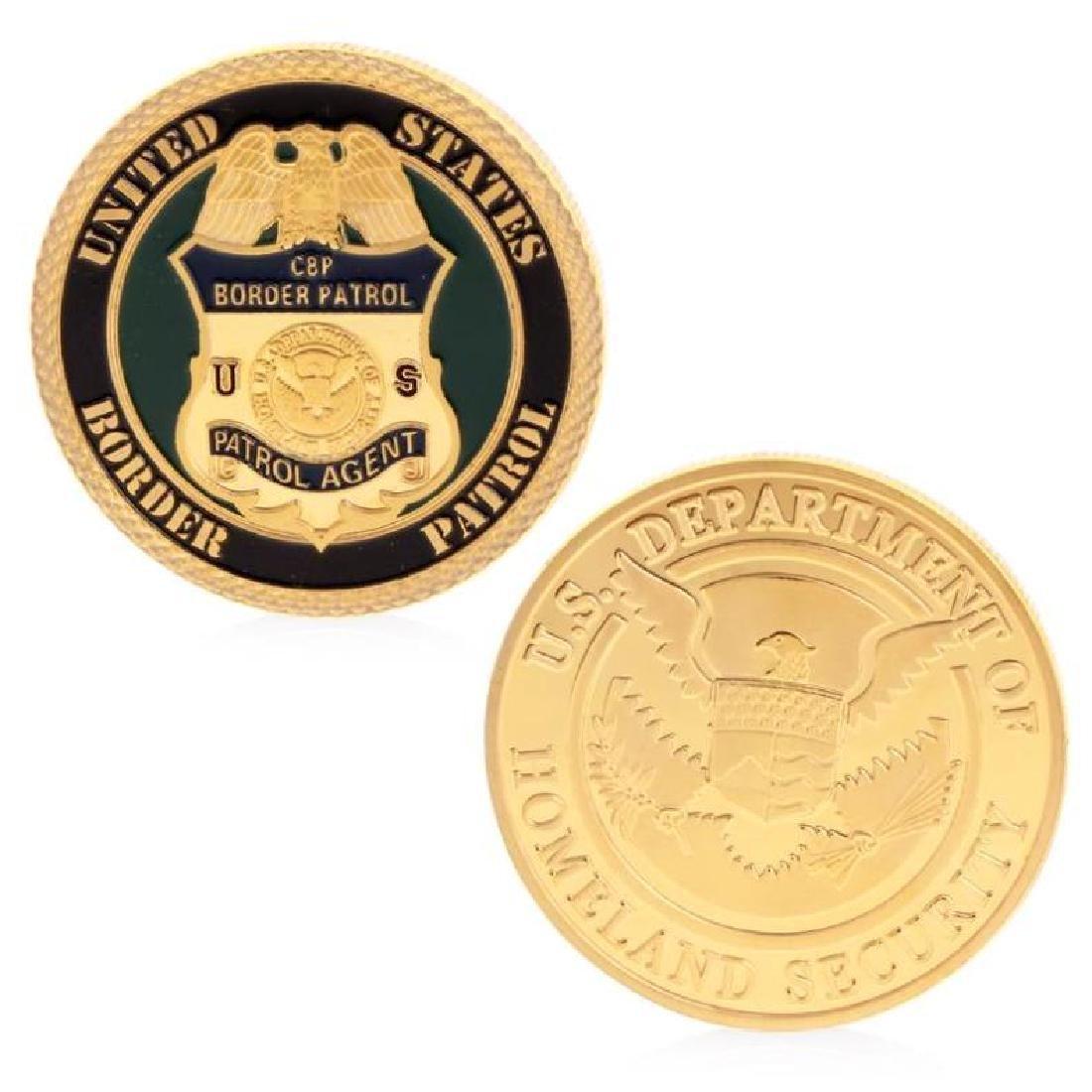 USA Homeland Security Gold Clad Coin