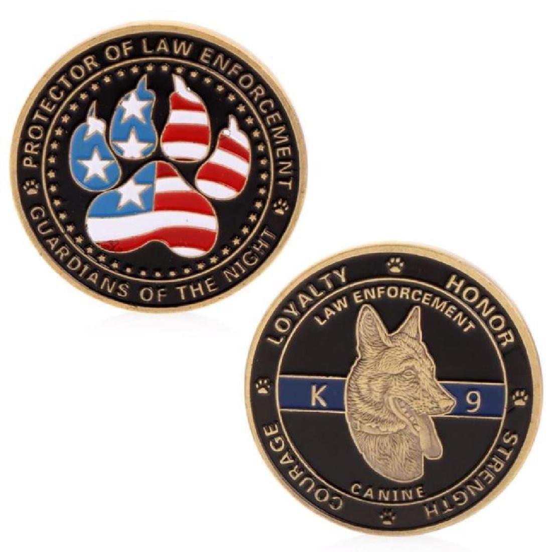 Police K9 Dog Challenge Coin