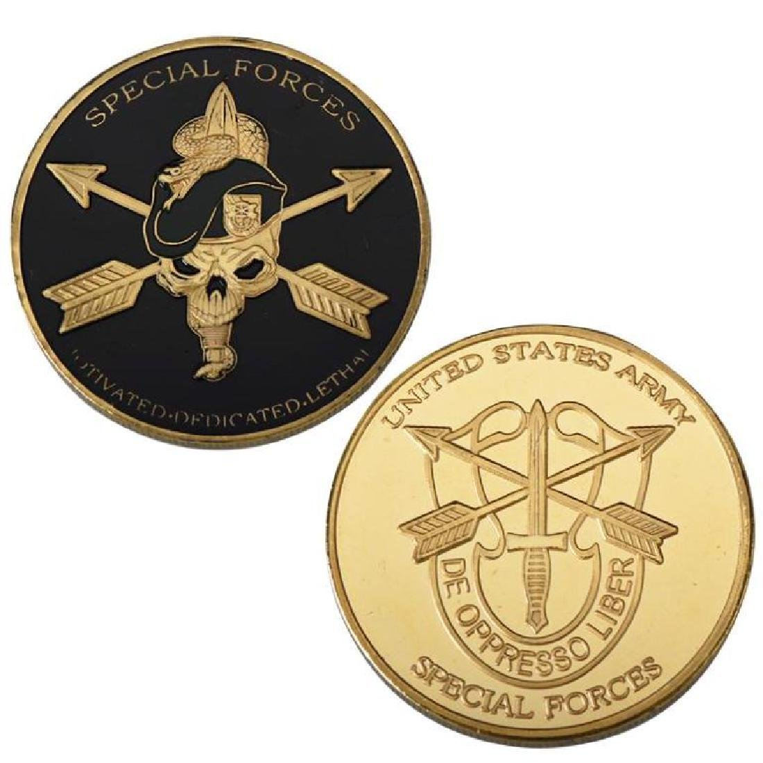USA Army Special Forces Gold Clad Challenge Coin