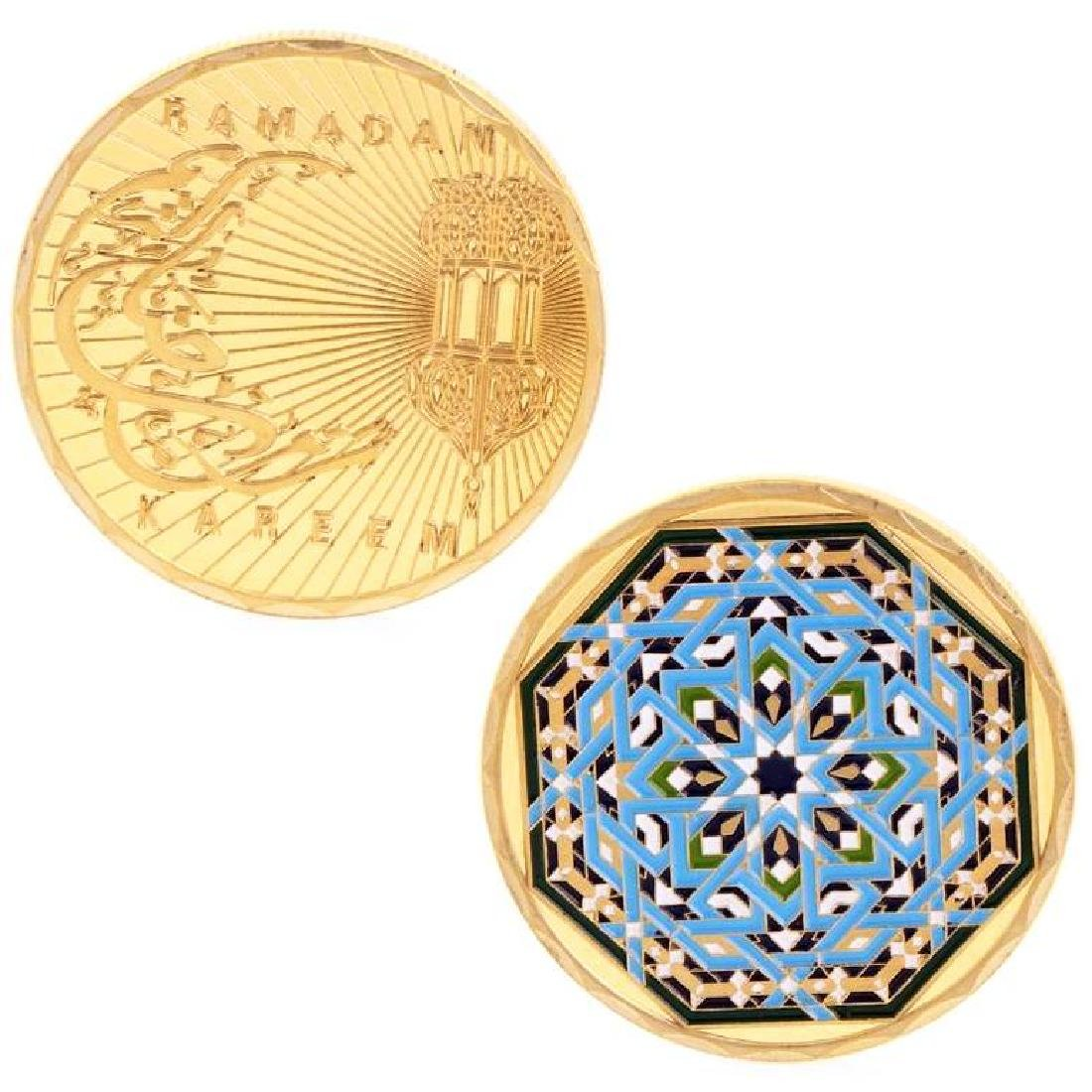 Ramadan Kaleidoscopic Gold Clad Coin