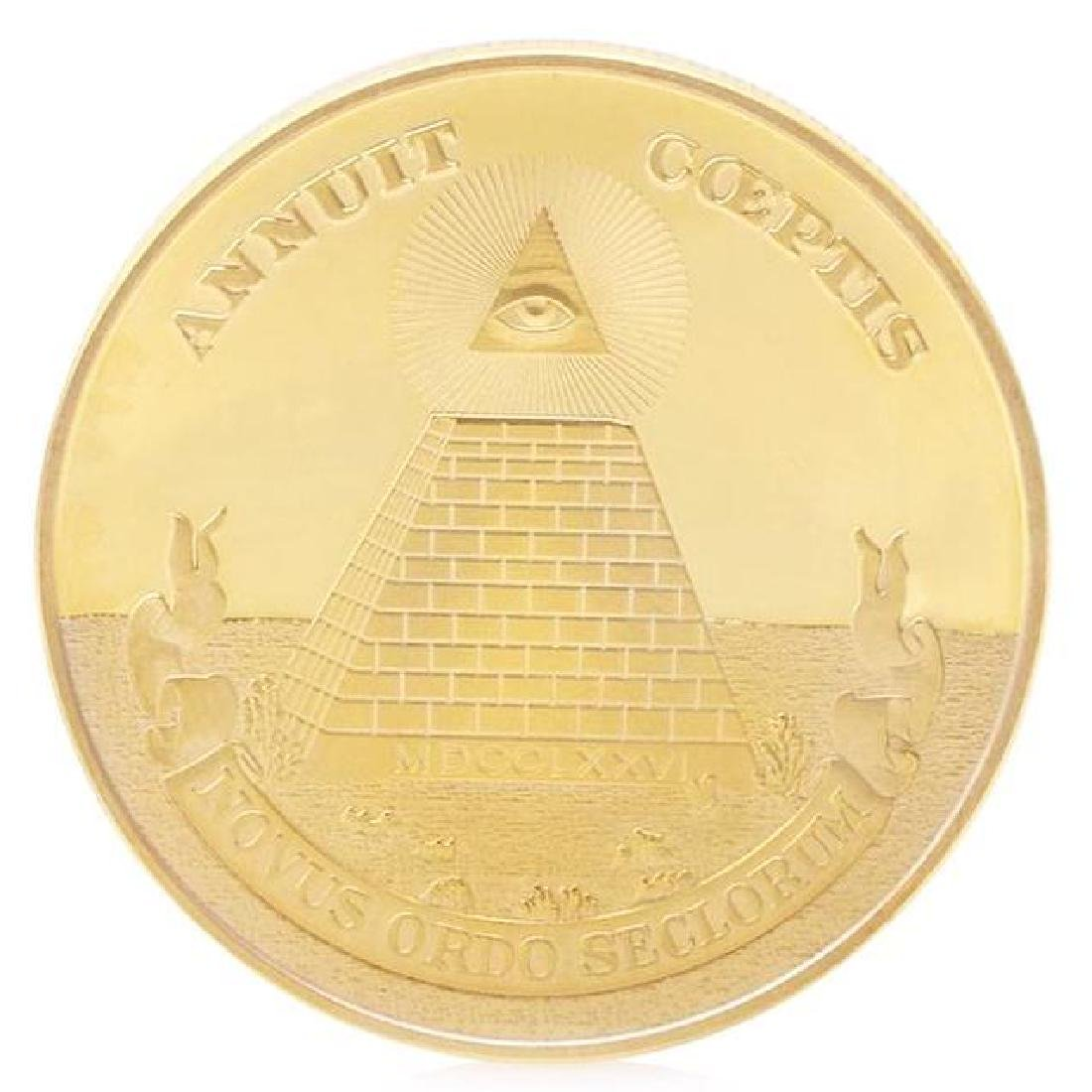 Illuminati Pyramid Gold Clad Coin
