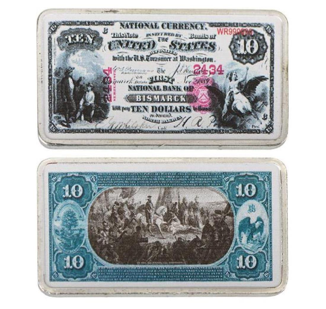 USA 1800s $10 Silver Clad Banknote Bar