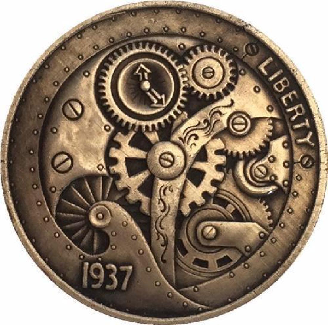 1937 USA Engineering Buffalo Nickel Coin