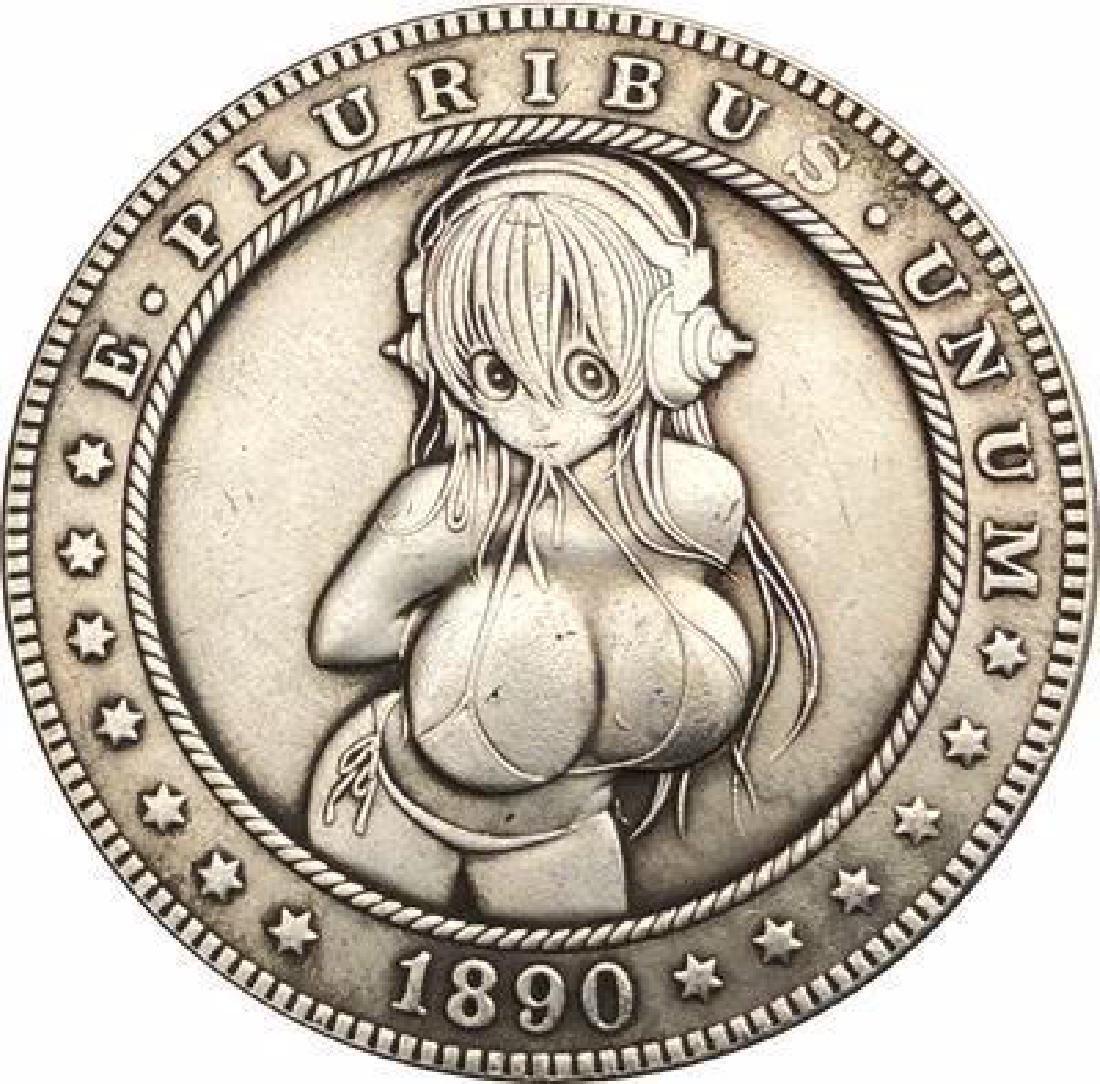 1890 USA Erotic Hentai #1 One Dollar Coin