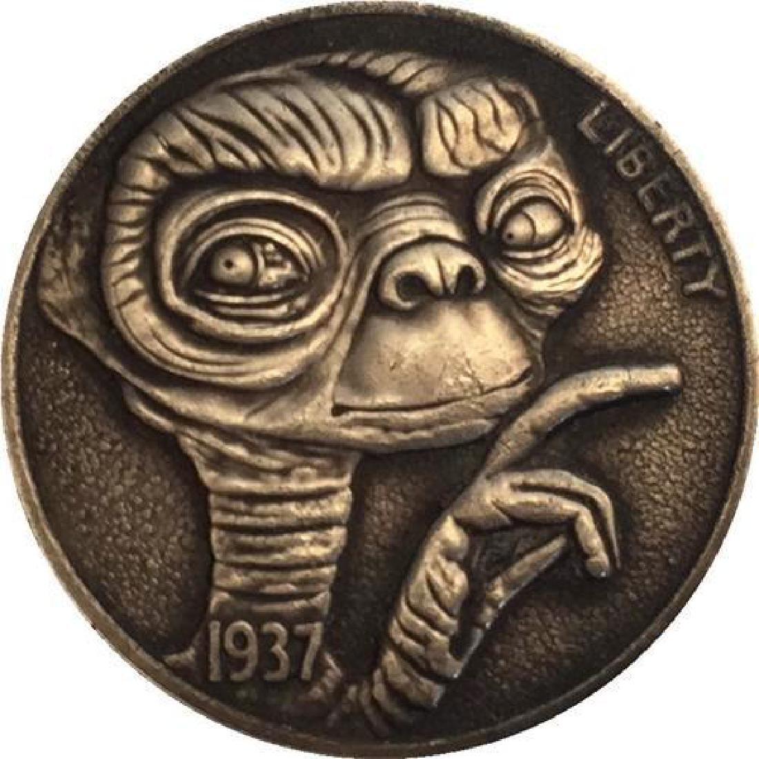 1937 E.T. Extraterrestrial Buffalo Nickel Coin