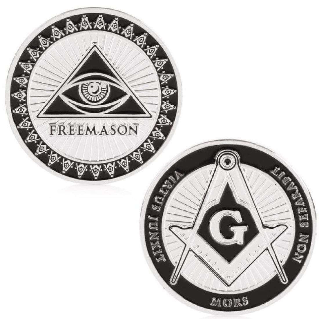 Freemason Brotherhood Silver Clad Coin