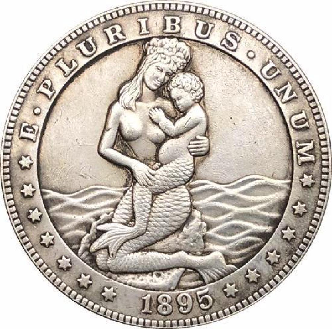 1895 USA Mermaid with Infant Coin