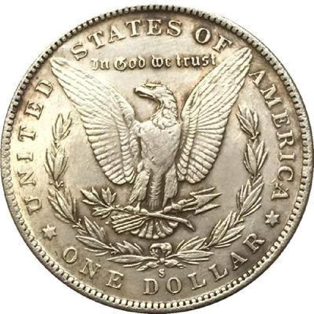 1893 USA Dinosaur Skull Coin - 2
