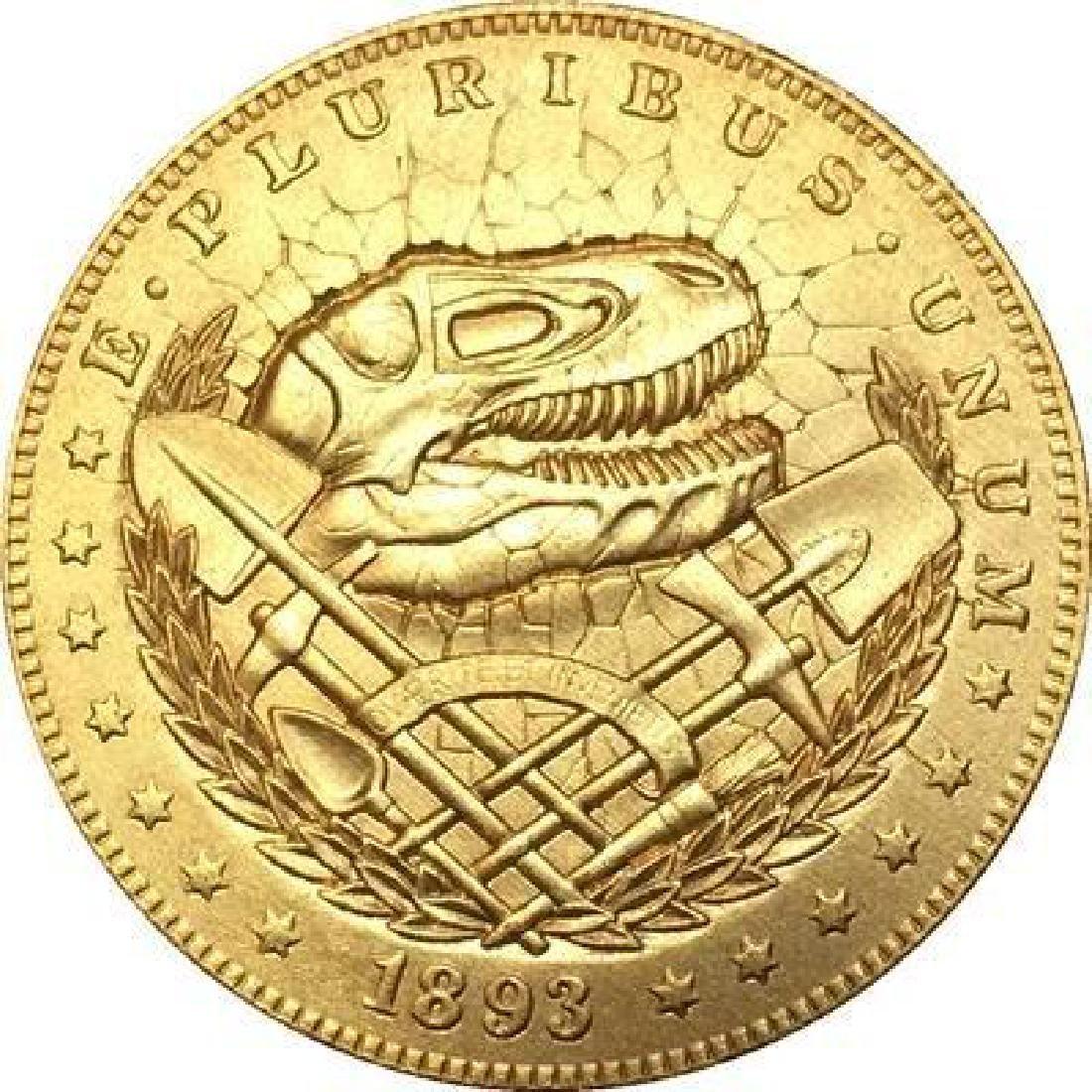 1893 USA Dinosaur Skull Gold Colored Coin
