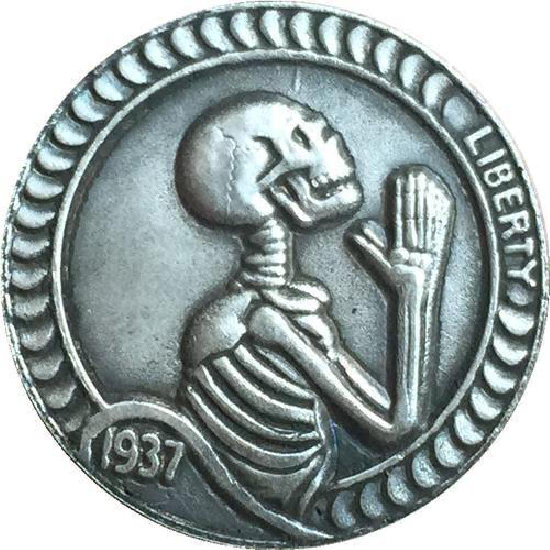 1937 USA Praying Skeleton Buffalo Coin
