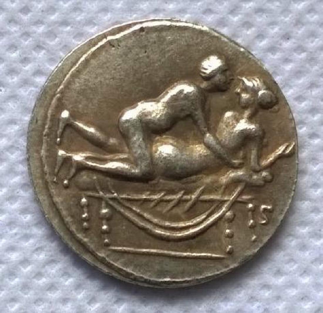 Roman Erotic Position #3 Token Coin