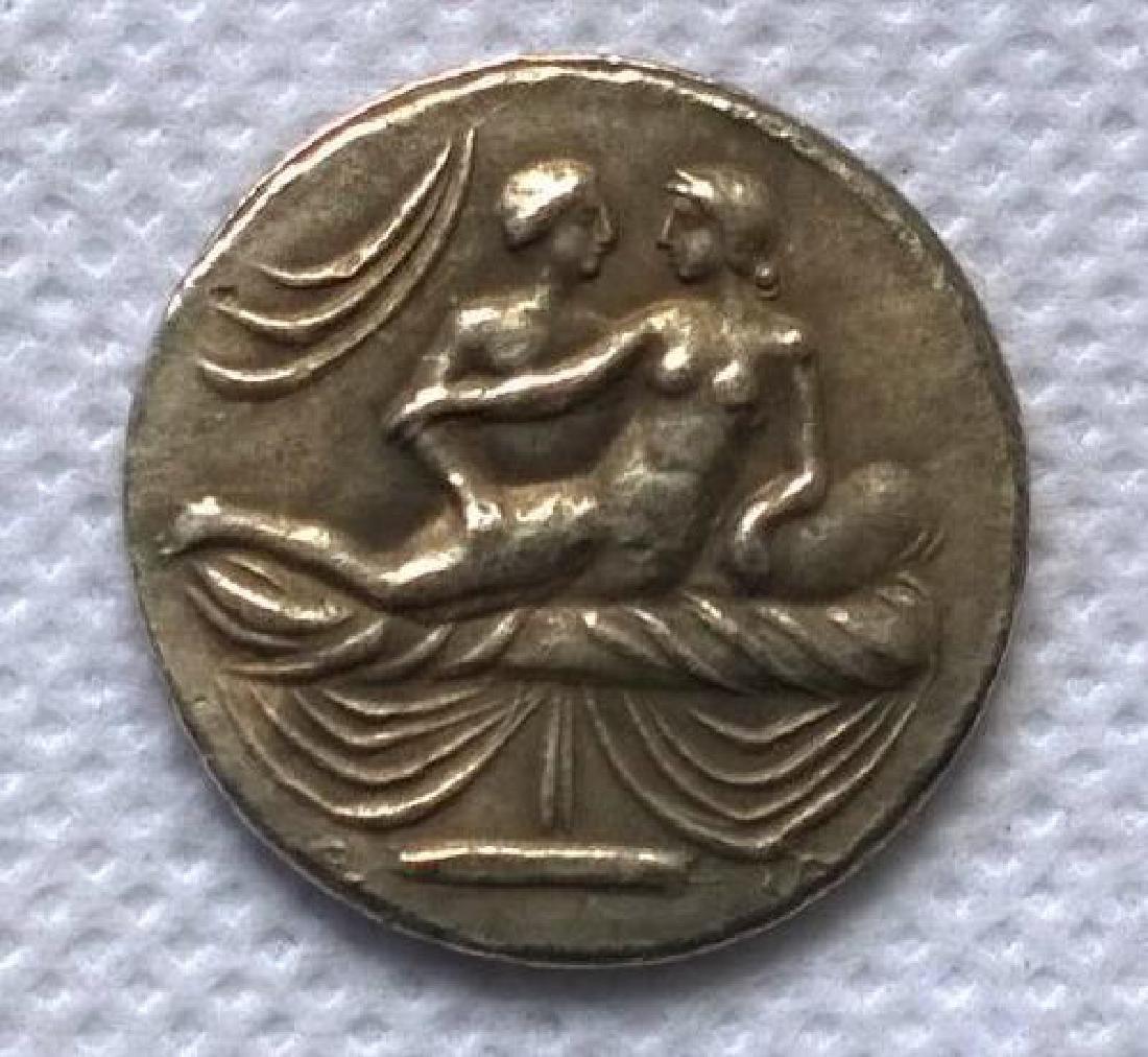 Roman Erotic Position #4 Token Coin