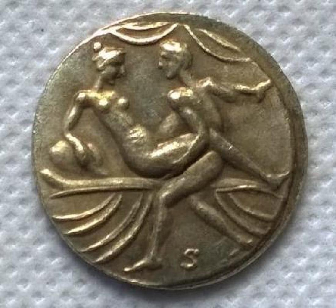 Roman Erotic Position #11 Token Coin