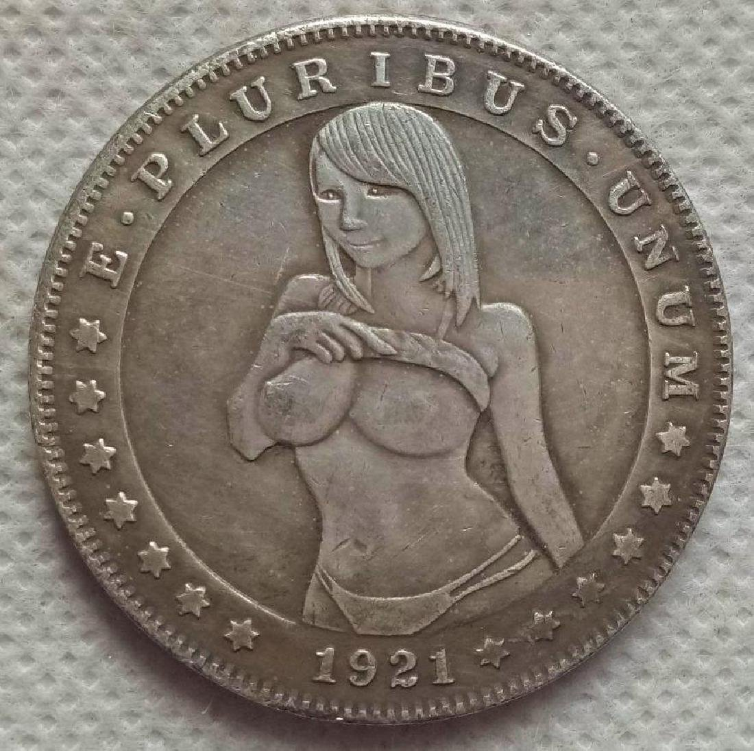 1921 USA Woman Showing Breasts Coin