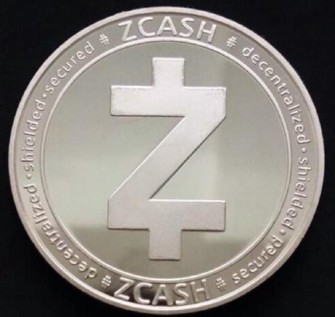 Zcash Digital Silver Clad Crypto Coin - 2