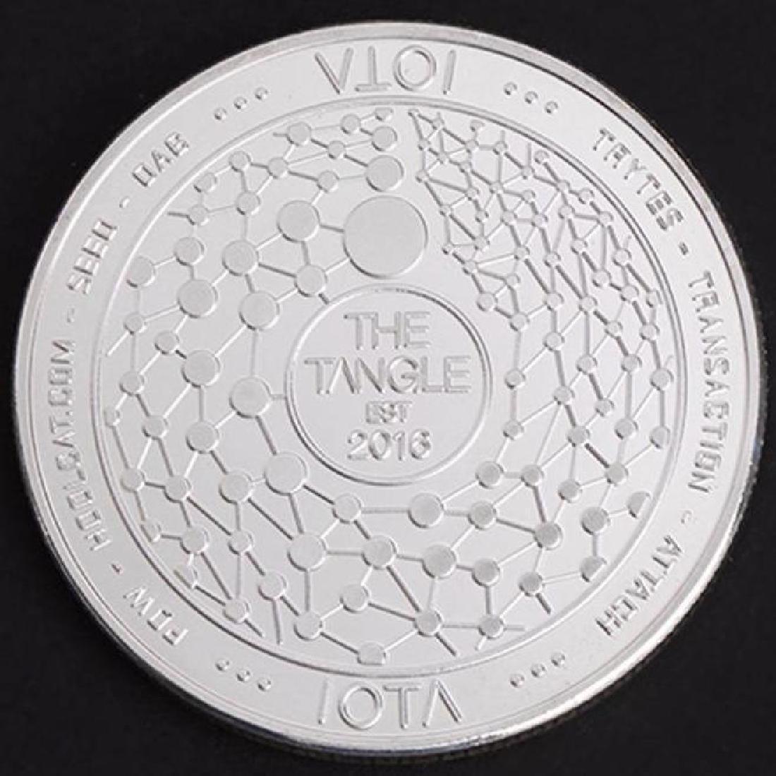 Est 2016 IOTA Silver Clad Crypto Coin