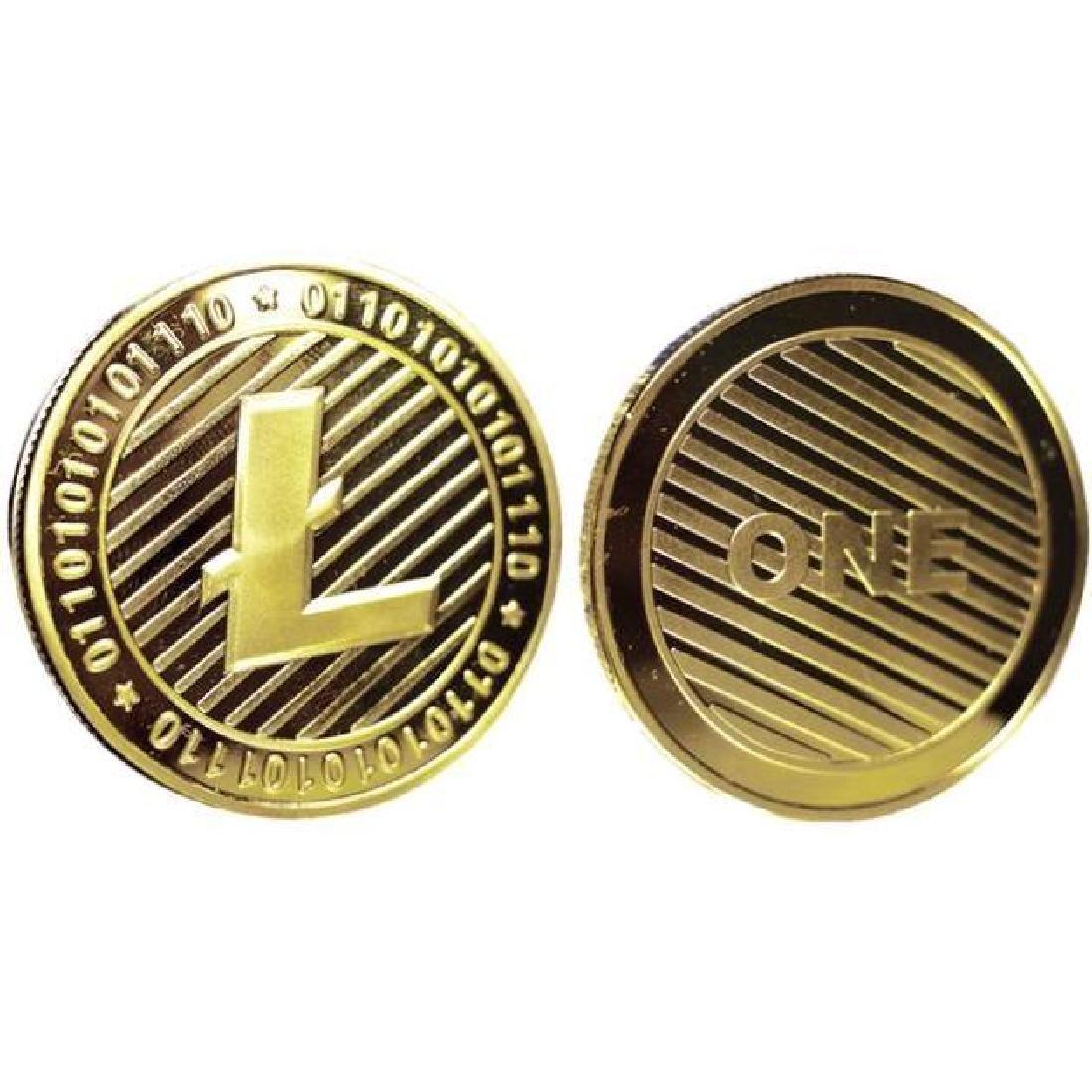 One Litecoin Gold Clad Crypto Coin