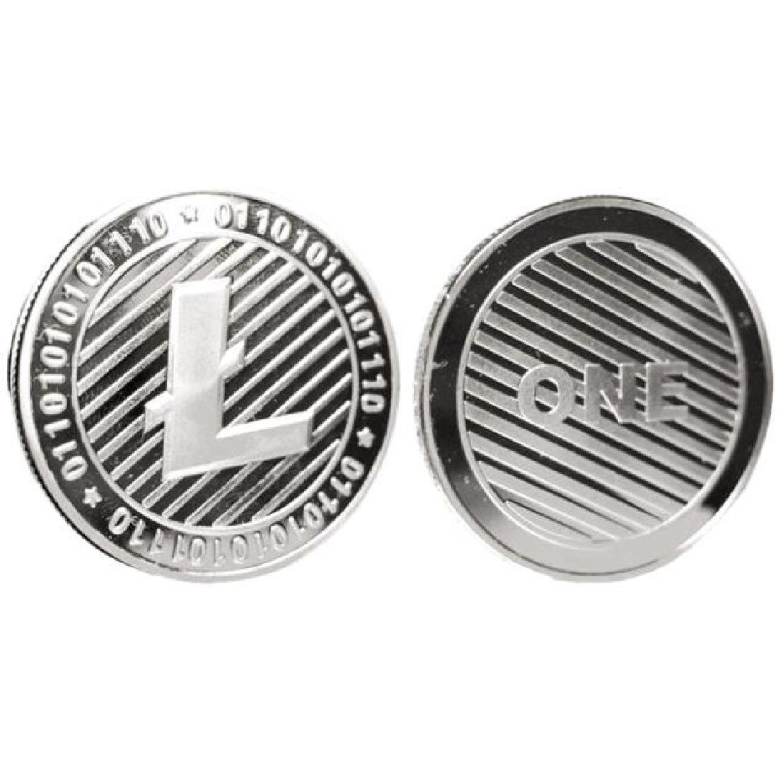 One Litecoin Silver Clad Crypto Coin