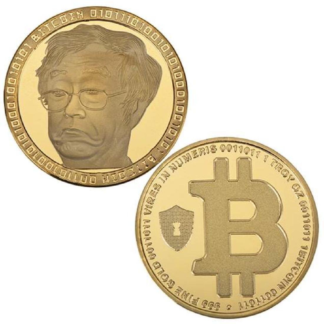 Bitcoin Inventor Gold Clad Commemorative Coin