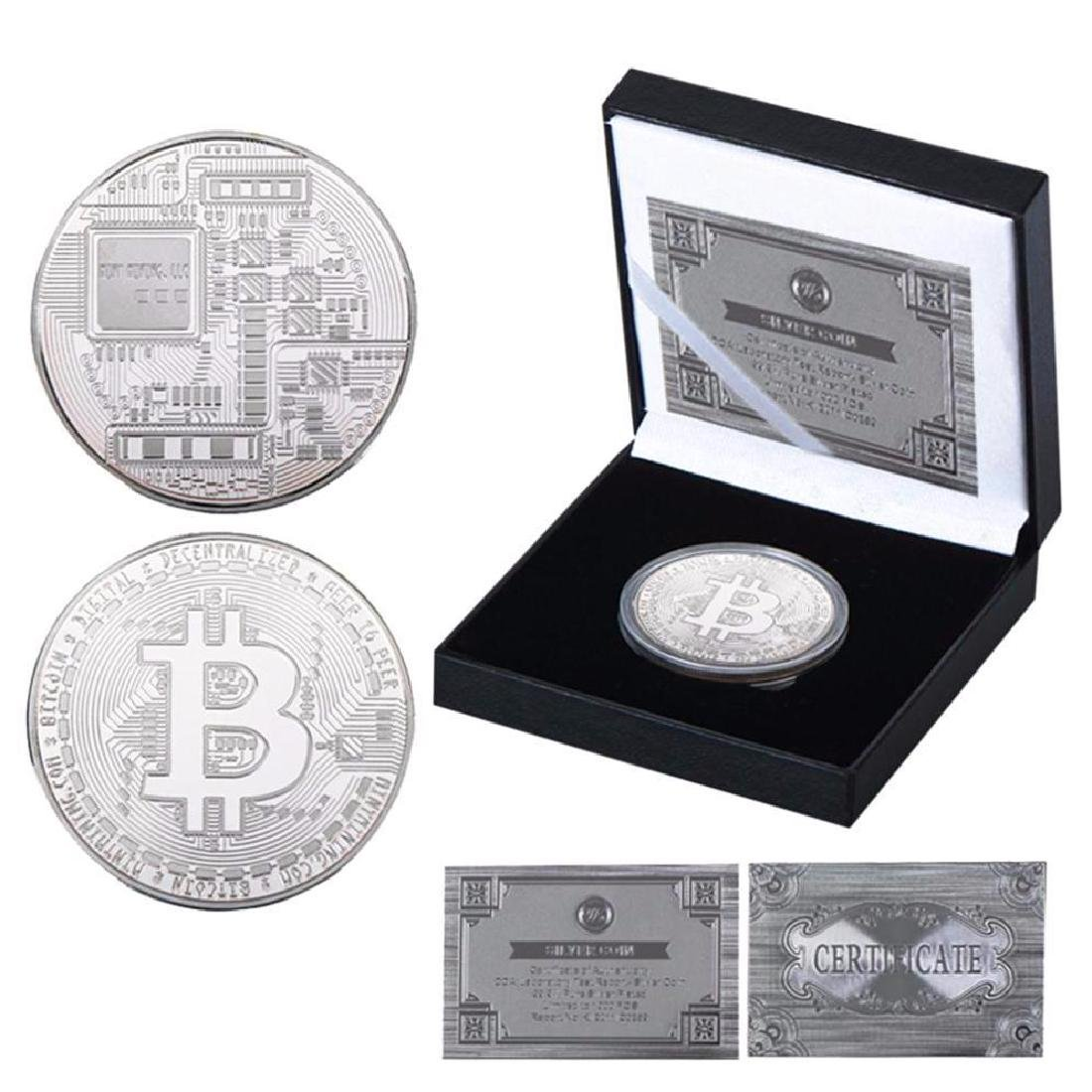 Bitcoin Silver Clad Crypto Coin with COA