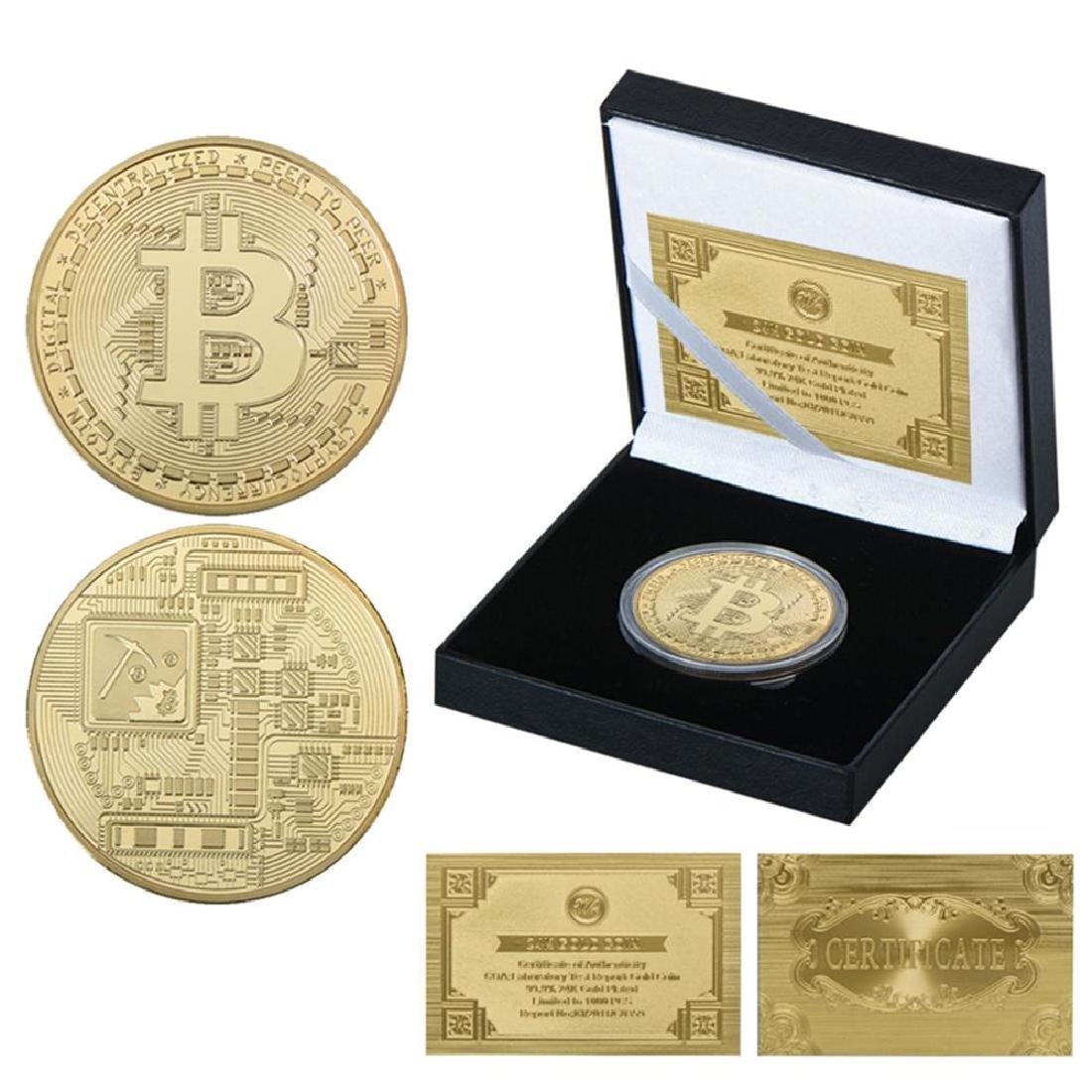 Bitcoin Mining Gold Clad Crypto Coin with COA