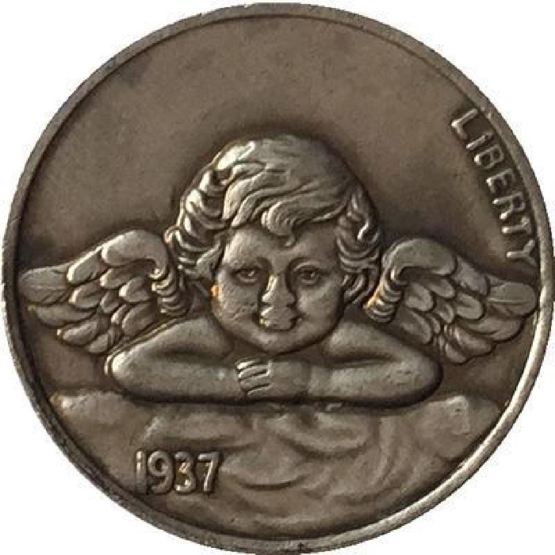 1937 USA Baby Angel Buffalo Coin