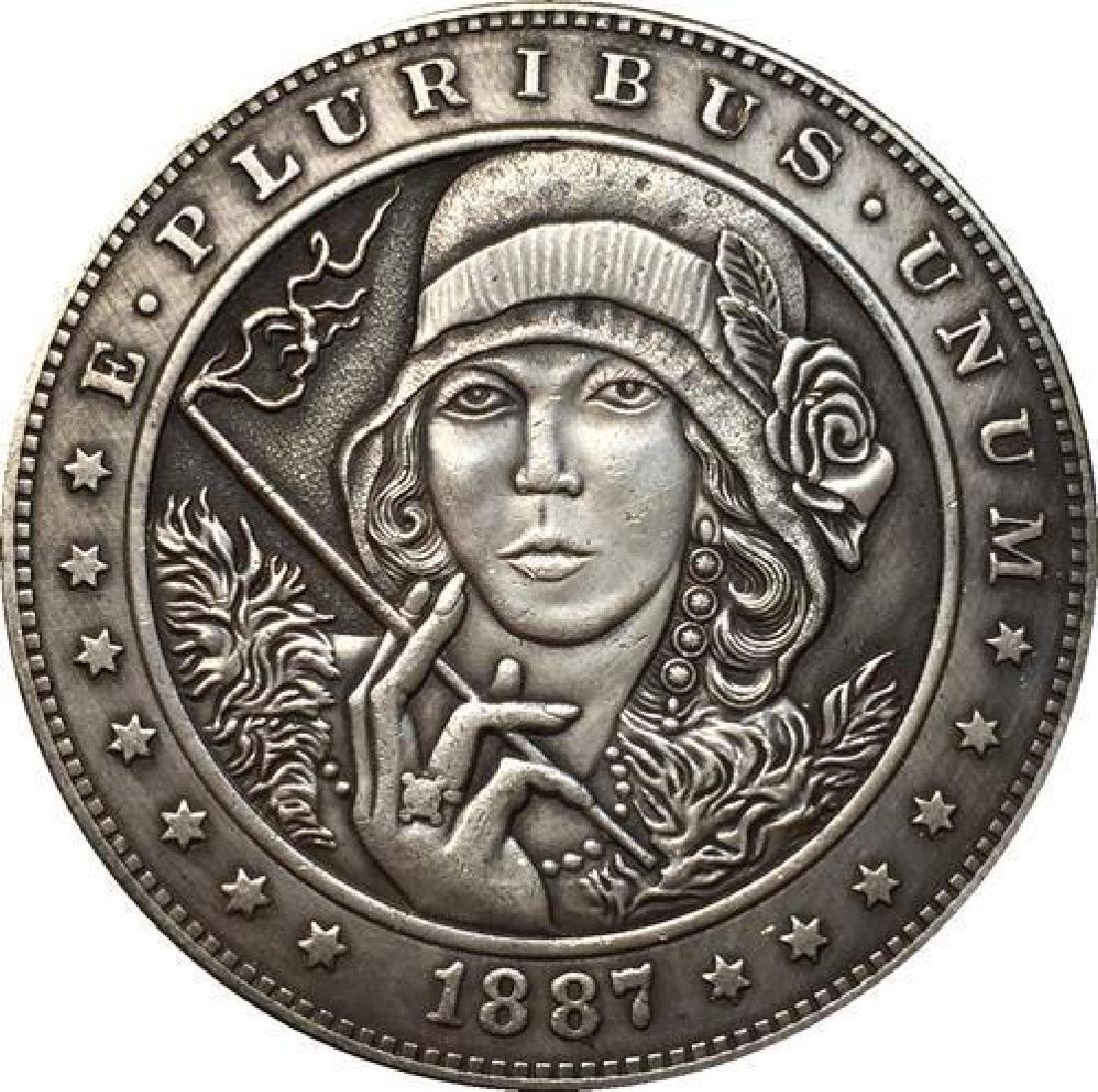 1887 USA Woman With Incense Coin