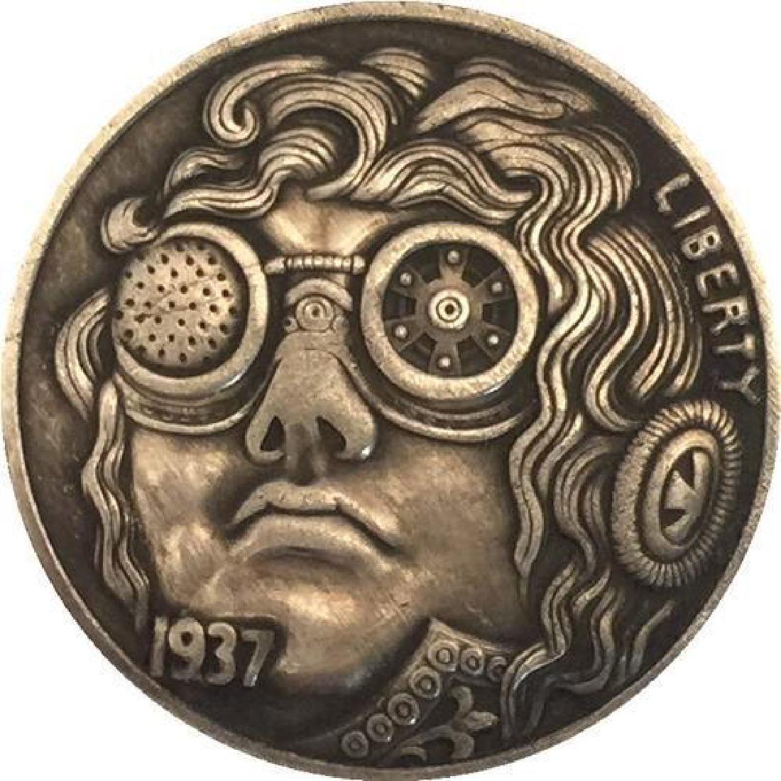 1937 USA The Futurist Buffalo Coin