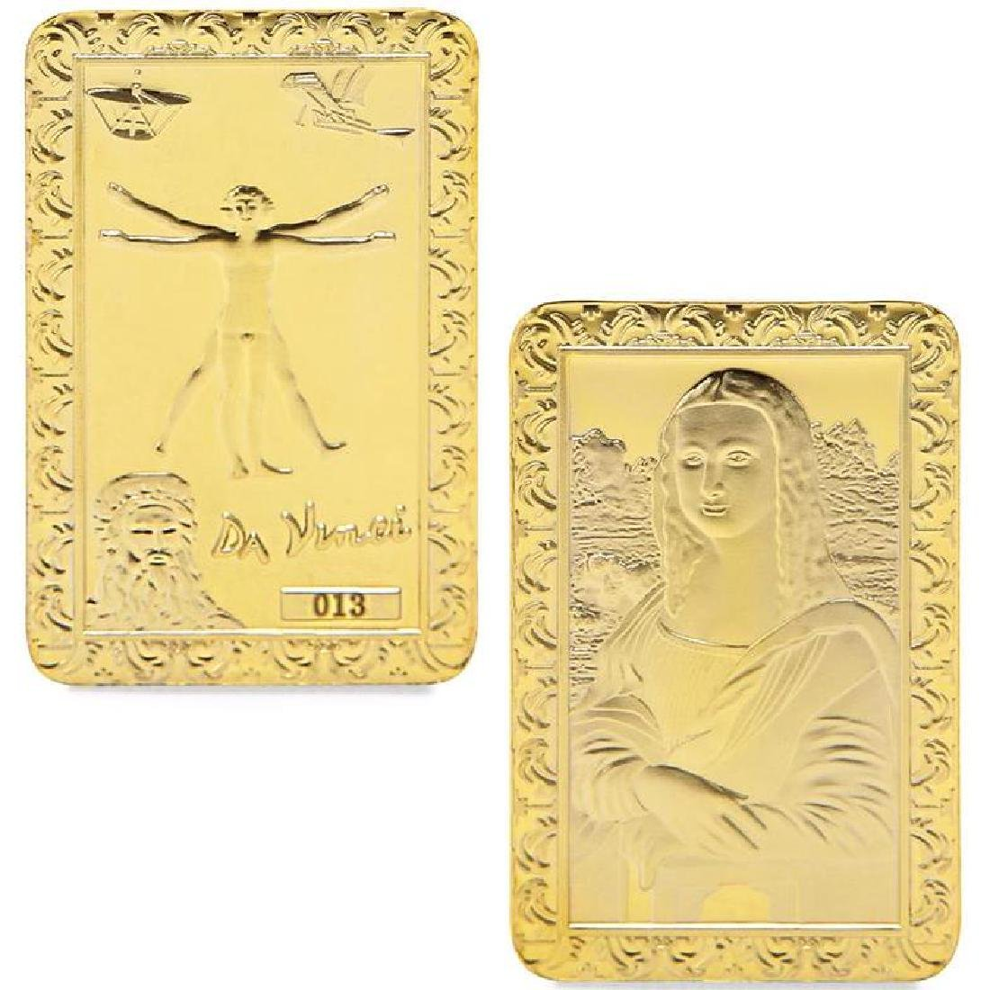Leonardo Da Vinci Art Gold Clad Bullion Bar