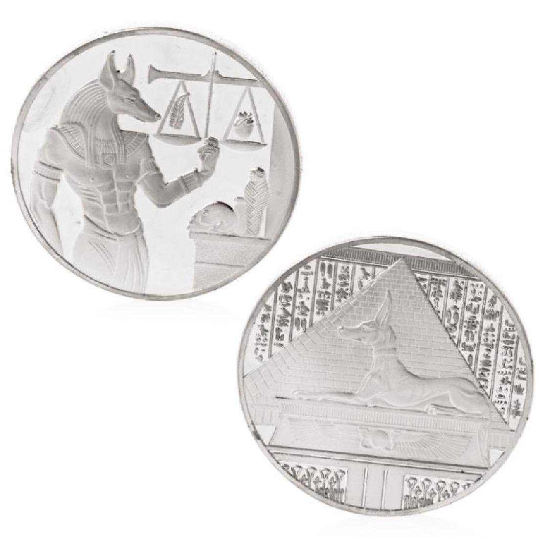 Ancient Egypt Anubis Silver Clad Coin