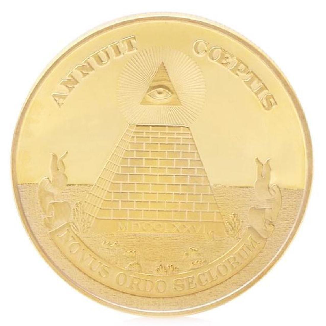 Illuminati Pyramid Gold Clad Coin