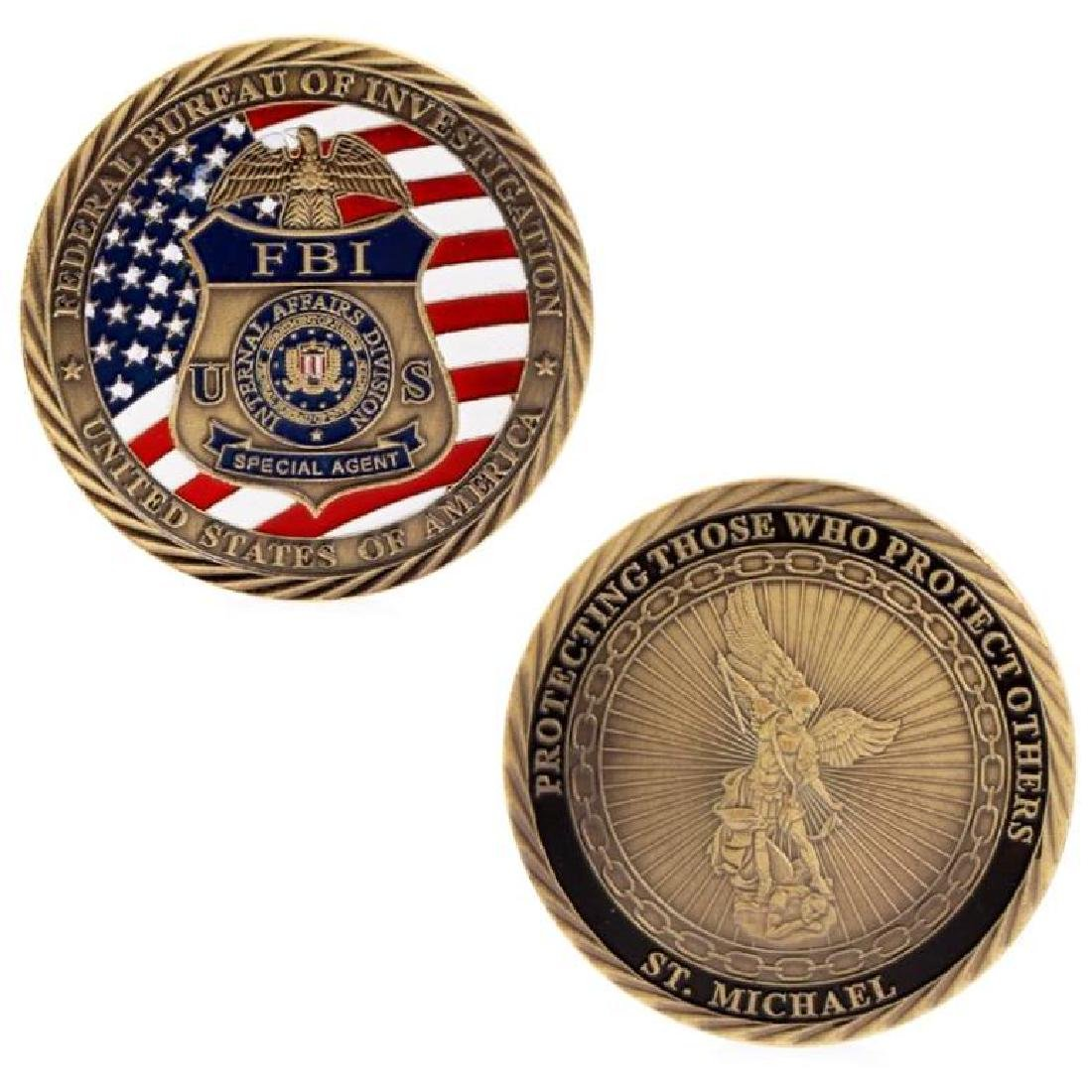 USA FBI Special Agent Gold Clad Challenge Coin