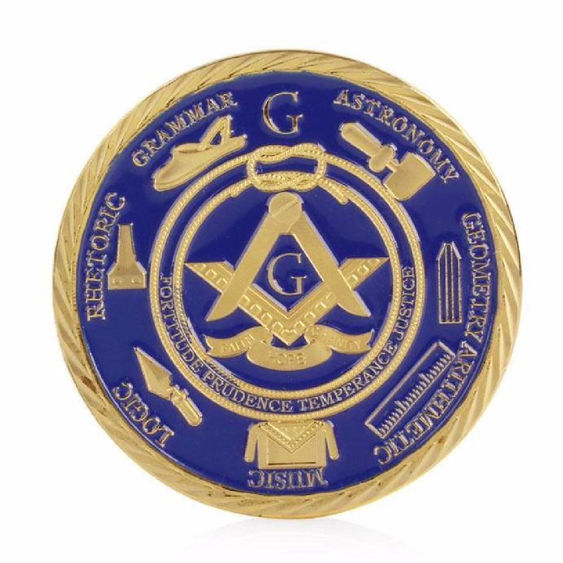 Freemason Brotherhood Colored Gold Clad Coin - 2