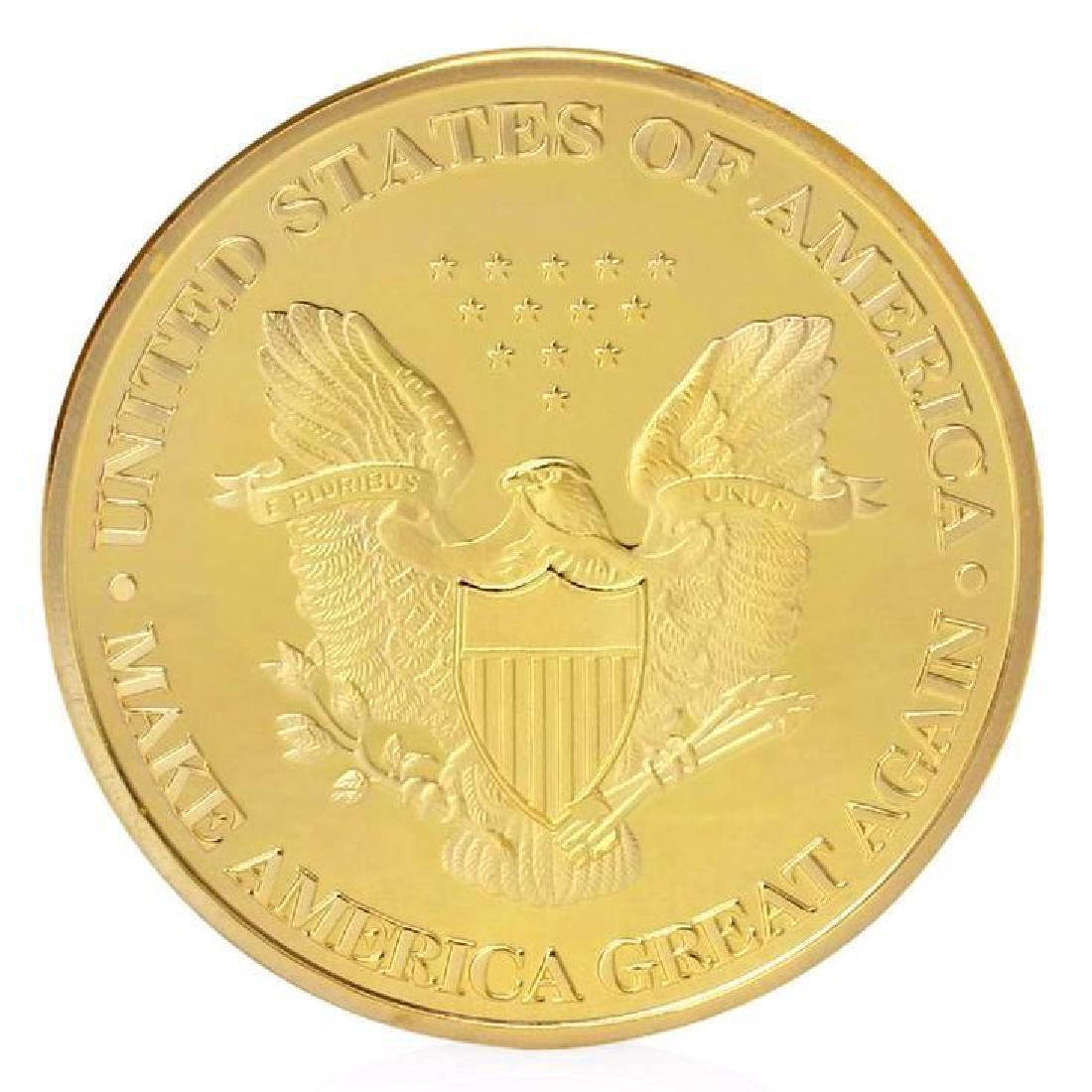 Donald Trump President Colored Gold Clad Coin - 2