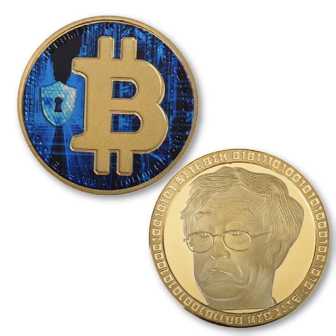 4 Bitcoin Silver and Gold Clad Collectible Coins - 2