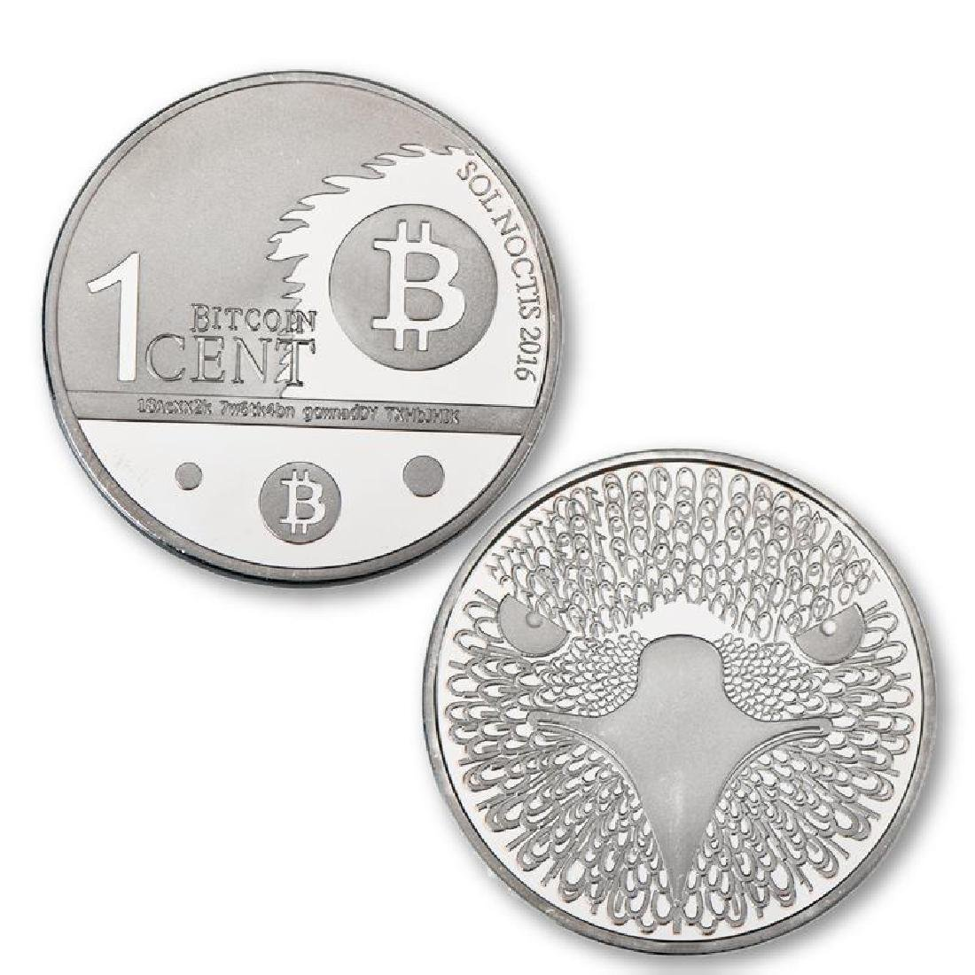 4 Bitcoin Silver and Gold Clad Collectible Coins - 5