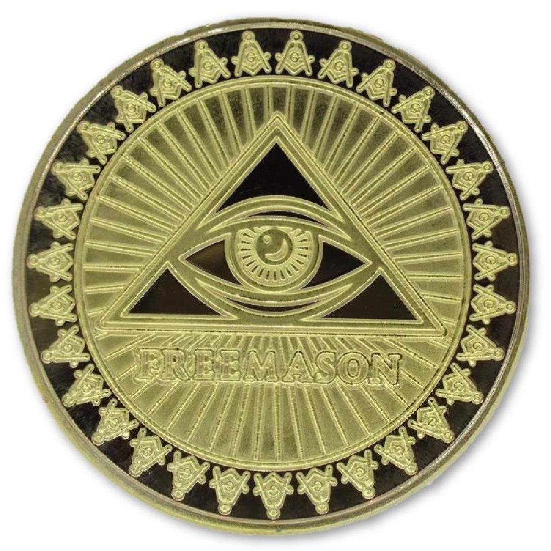 Freemason 24K Gold Clad Collectible Token Coin