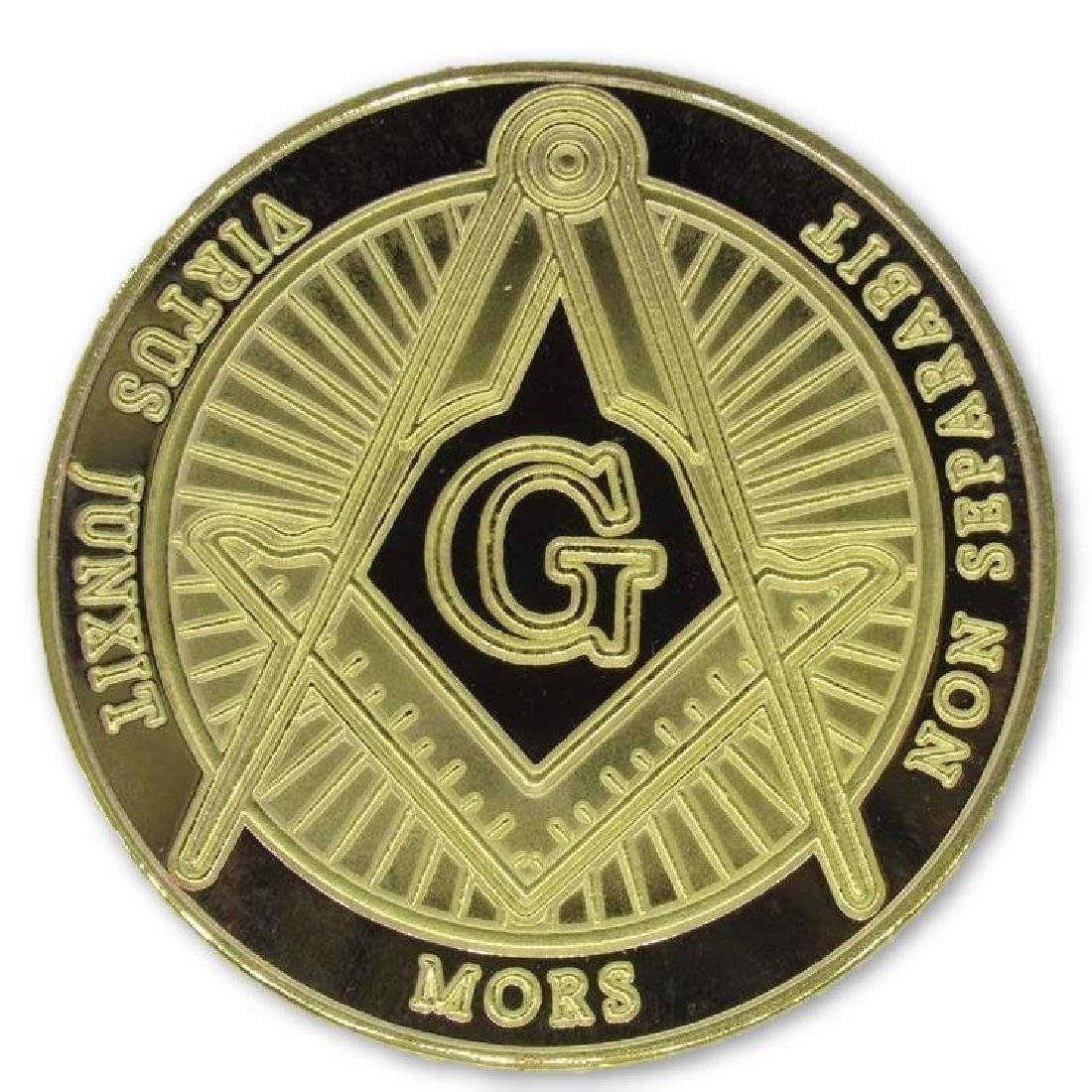 Freemason 24K Gold Clad Collectible Token Coin - 2