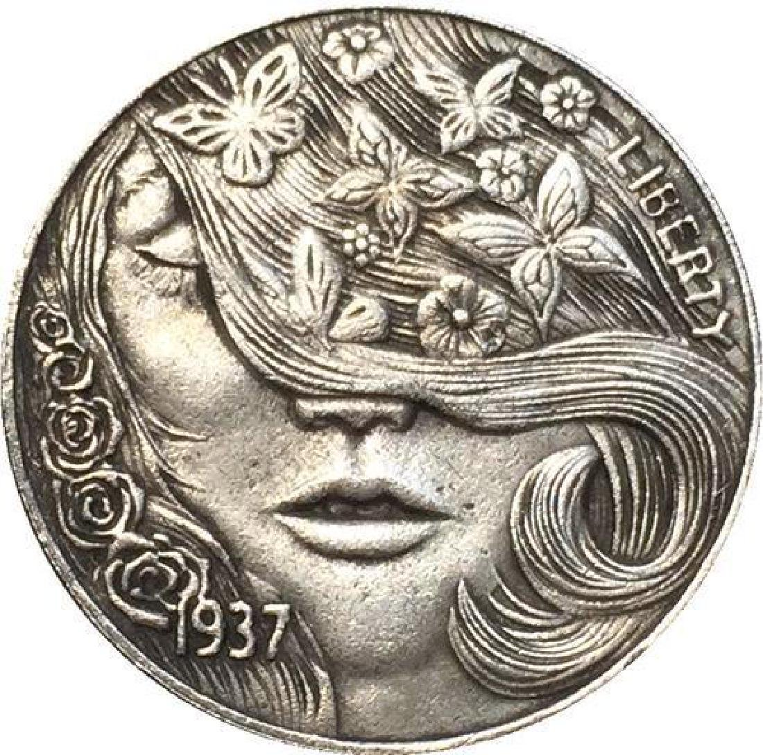 1937 USA Beautiful Woman Buffalo Coin