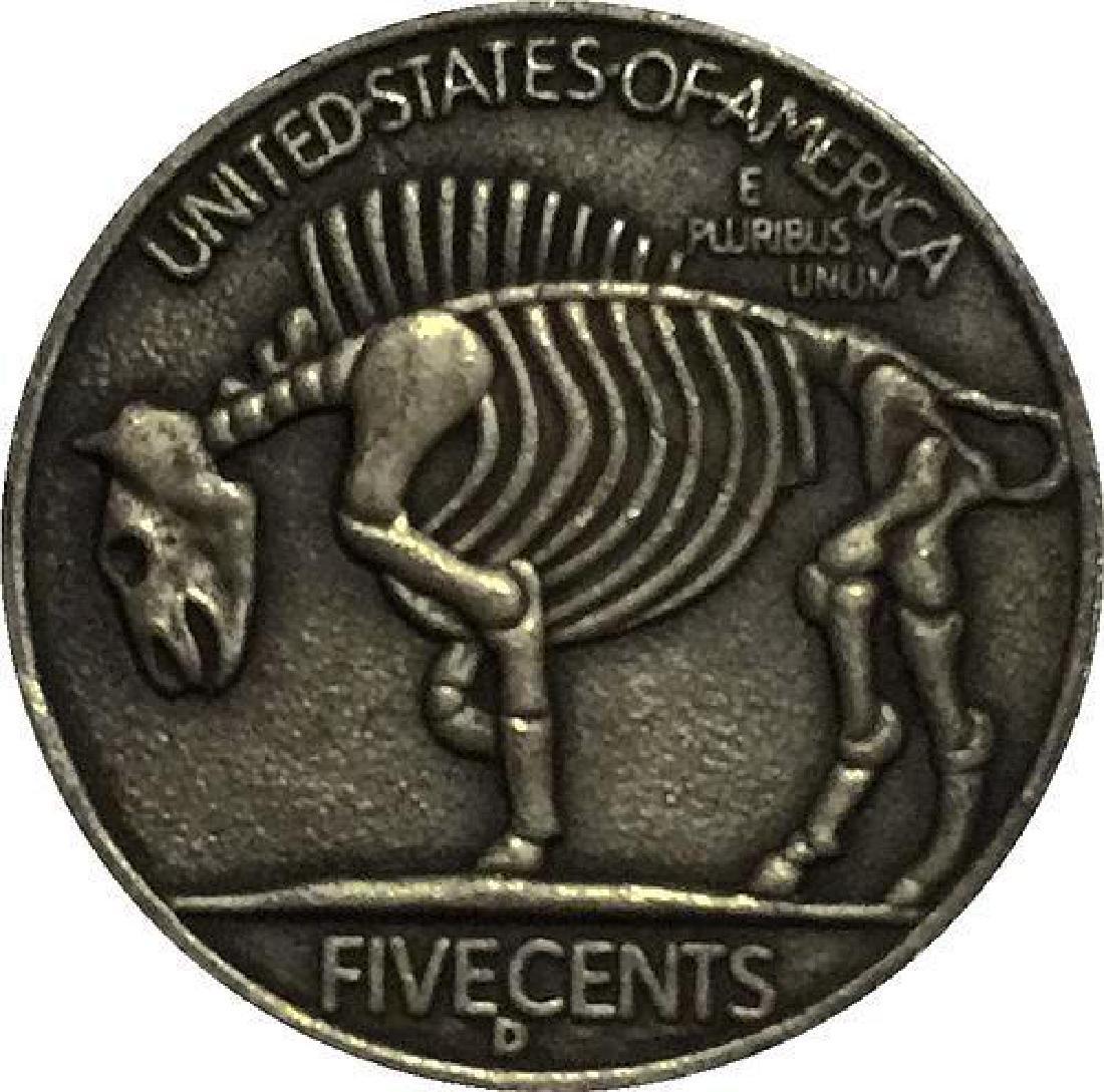 1937 USA Beautiful Woman Buffalo Coin - 2