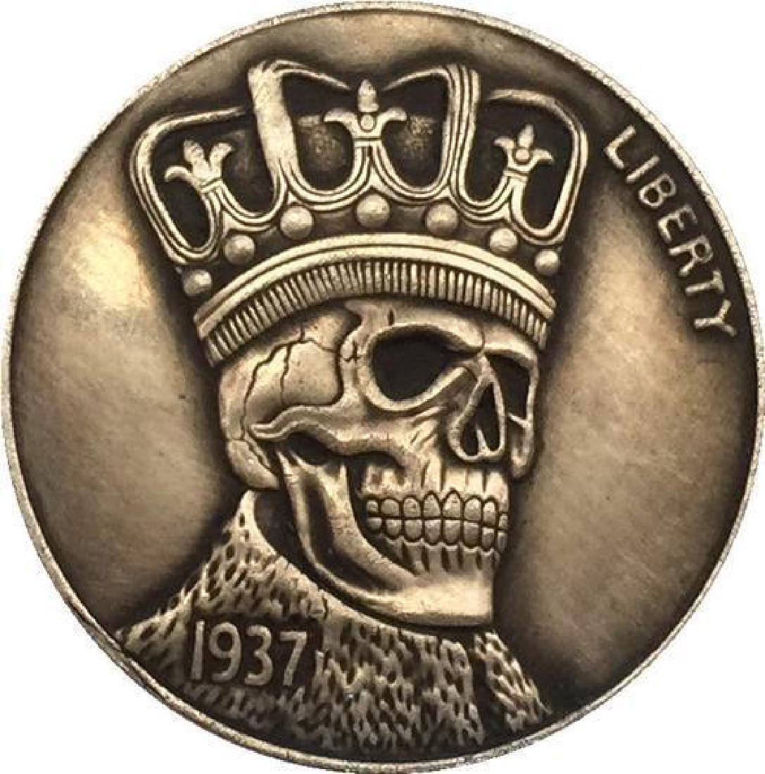 1937 USA Skeleton King Buffalo Coin