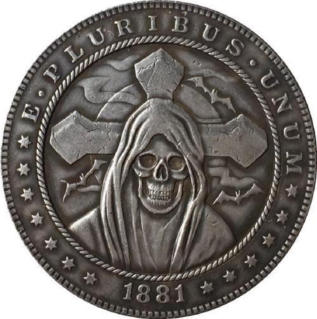 1881 USA Hooded Skeleton Coin
